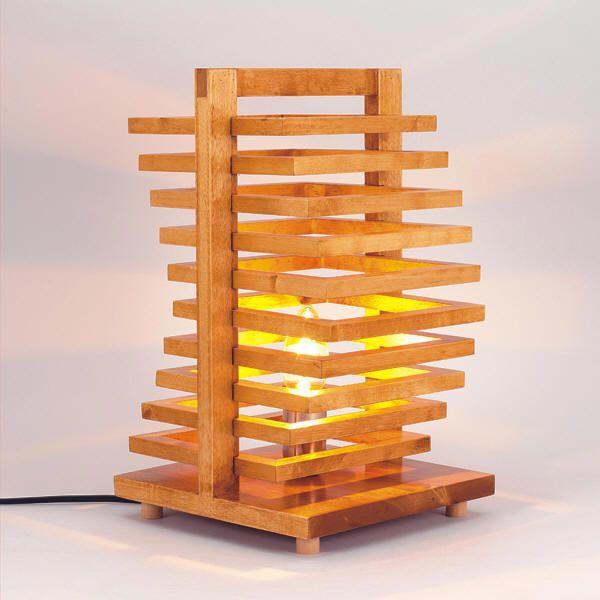 Novelty Wooden Desk Lamp