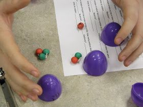 Isotopes and mass number lab using Easter eggs