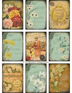 Ephemera's Vintage Garden: Free Weekly Printable - Seed Catalogue ATC's