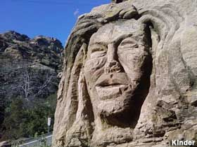 Simi Valley, CA - Stone Woman Face