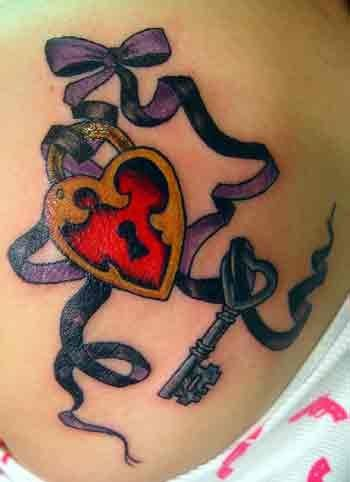 25 best ideas about lock key tattoos on pinterest kids for Pretty key tattoos