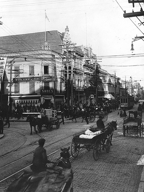 St. Lawrence Main and St. Catherine Street, Montreal, about 1905