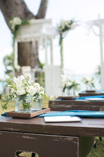 The aisle a by Tirtha Bridal Uluwatu Bali #outdoor #garden #wedding