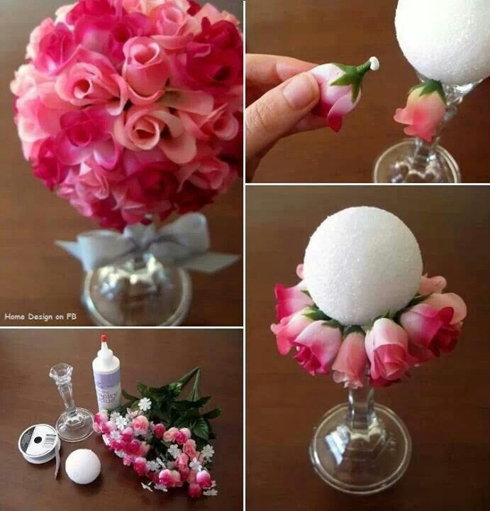 how to make 3d flower ball