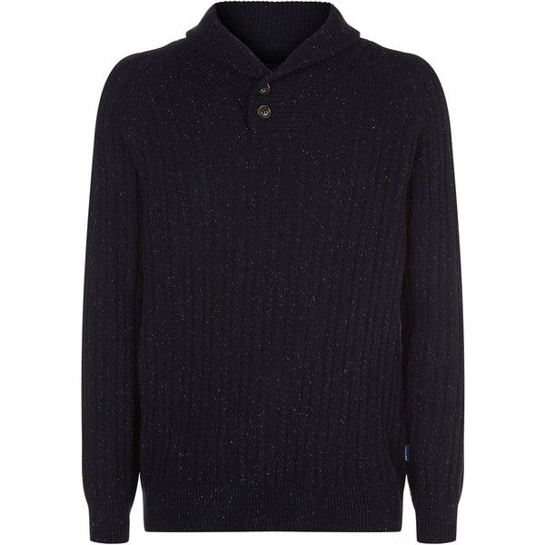 Barbour Haskier Shawl Collar Sweater ($135) ❤ liked on Polyvore featuring men's fashion, men's clothing, men's sweaters, mens cable sweater, mens cable knit sweater, mens shawl collar sweater and mens cable knit shawl collar sweater