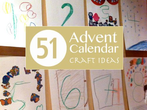 51 Advent Calendar | Everything Mom specifically Activity Advent Calendar | tinkerlab