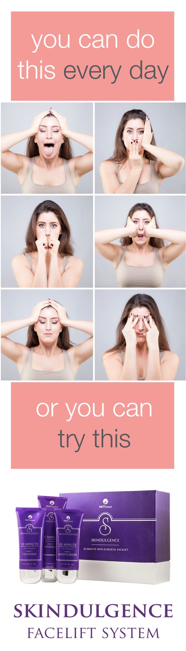30-Minute Non-Surgical Facelift System is often compared to an exercise program for your face. #facelift #faceyoga #AntiAgingSkincare
