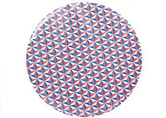 Melaminteller mit coolem Muster (25cm)