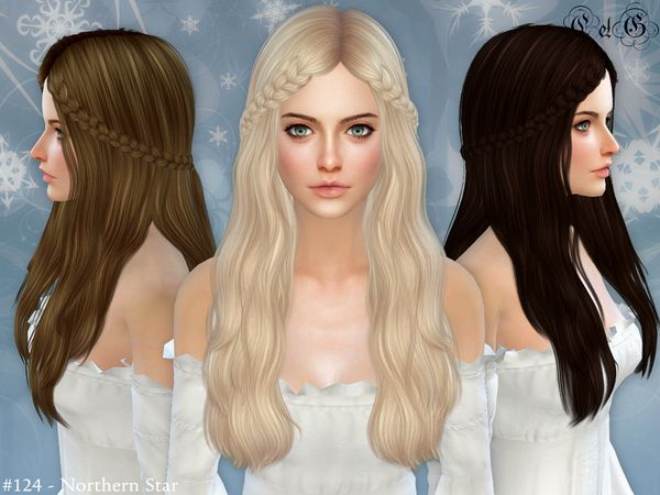 The Sims Resource: Northern Star - Conversion Hairstyle • Sims 4 Downloads