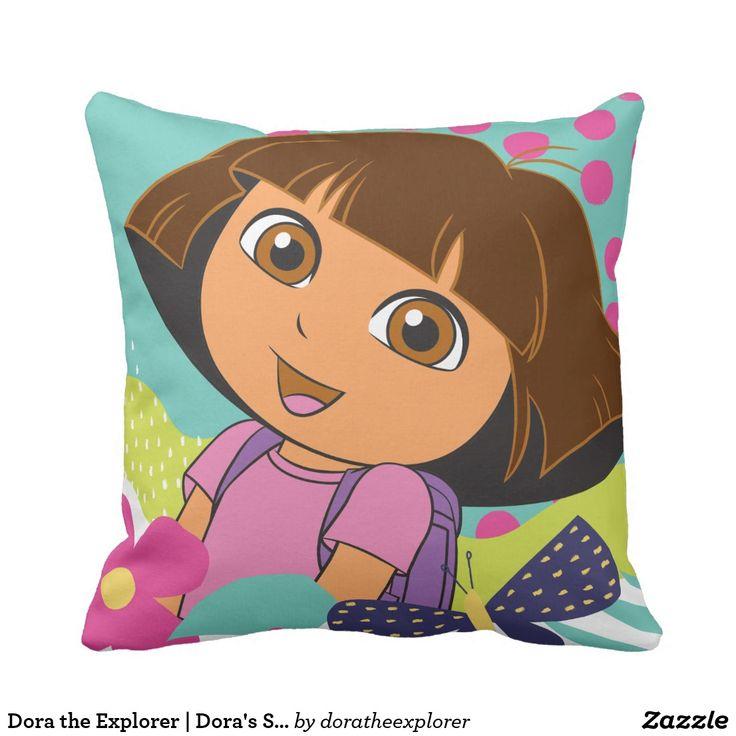 Dora the Explorer   Dora's Smile. Producto disponible en tienda Zazzle. Decoración para el hogar. Product available in Zazzle store. Home decoration. Regalos, Gifts. #cojín #pillows