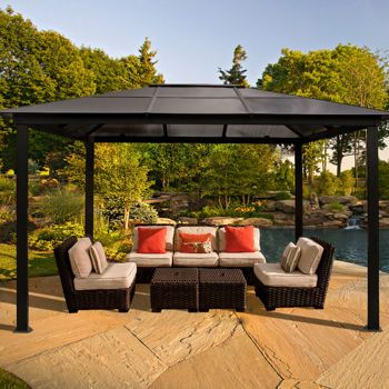 274 best images about cottage cool ways to make shade on for Outdoor cabana furniture