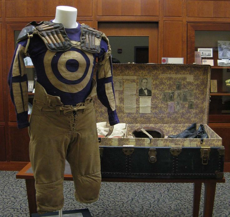 """We love the #Furman history in the special collection exhibit """"F.U. All the Time!"""" This #Furman football uniform is from the 1920s."""