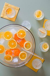 French 75 Punch: One of my favorite cocktails scaled up to punch bowl size? Yes, please!  Thanks, Imbibe!