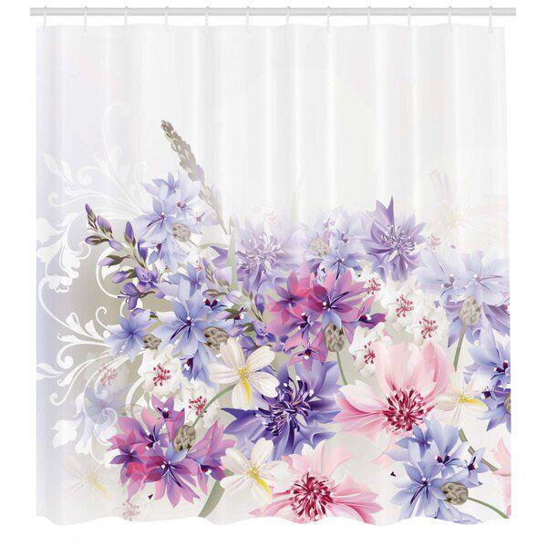 Burma Pink Purple Flowers Single Shower Curtain In 2020 Lavender Shower Curtain Pink And Purple Flowers Shower Curtain Sizes