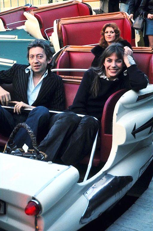 Serge Gainsbourg and Jane Birkin at the fair.