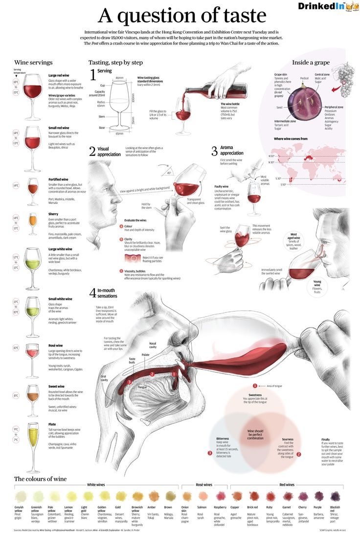 This week's infographic comes from several sources including a professional wine tasting handbook and even a scientific explanation on all of the aspects of wine tasting. It was originally designed for a wine tasting fair in Hong Kong and we bring this to you as this week's infographic. As always, a high-resolution version is available for printing...