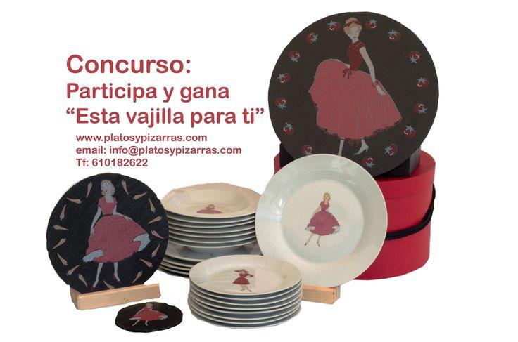 Nueva #vajilla de #porcelana y #pizarra natural. Una forma #diferente de #vestir tu #mesa estas #navidades