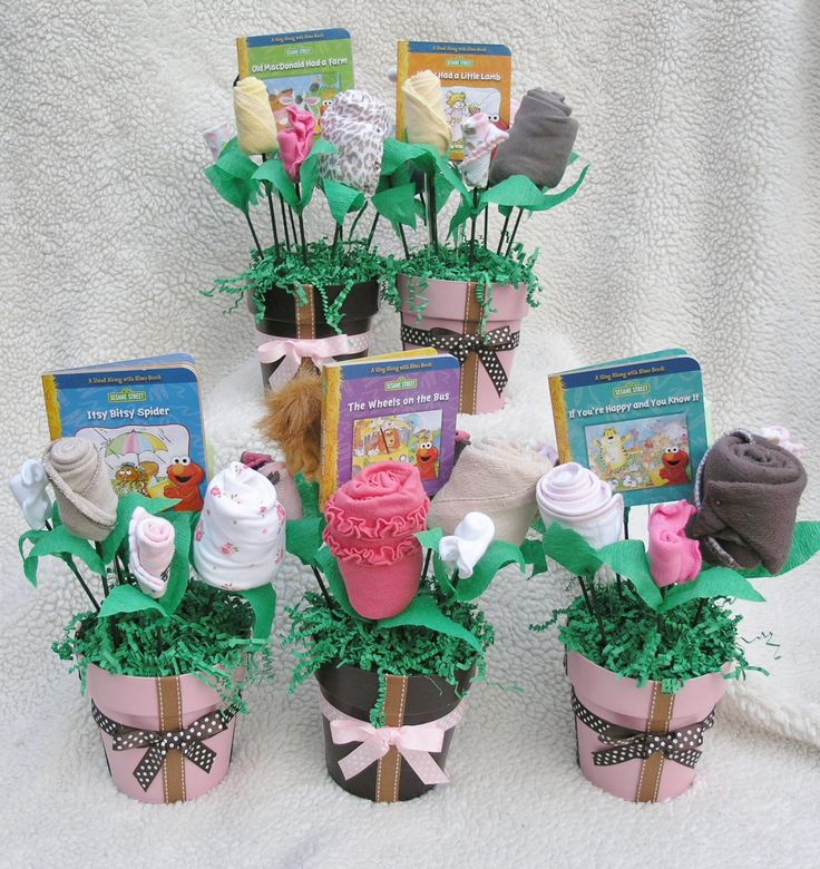 Baby blossoms girl bouquet small pots