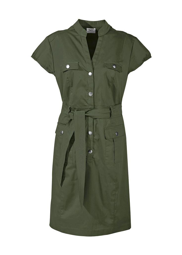 Vestido safari com cinto de amarrar oliva encomendar agora na loja on-line bonprix.de  R$ 149,00 a partir de Vestido safari chique, como um leve toque ...