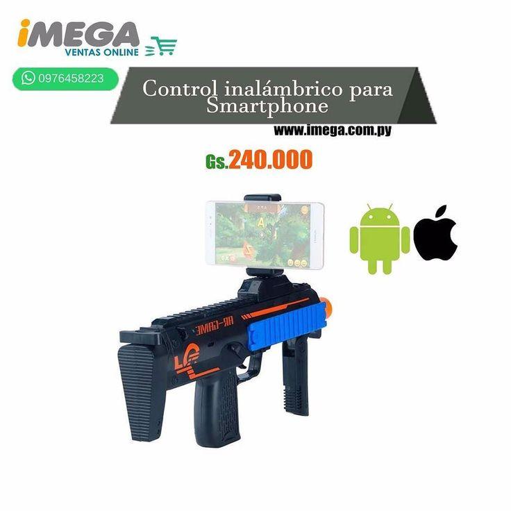 El Control de Juego modelo DZ-823 de AR Game Gun fue desarrollado para hacer los juegos más divertidos e inmersivos. Permite convertir el smartphone compatible en fuente de entretenimiento y aventura. Funciona con pilas AA y viene con Bluetooth integrado. #celular #accesorios #juegos #bluetooth #inalámbrico #diversion #Joystick #calidad #original #android #iOs #AR Game Gun #TiendaOnLine #Imegapy  Visítanos en nuestra página web www.imega.com.py  Gs. 240.000