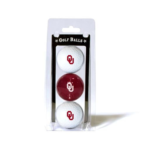 University of Oklahoma Sooners Golf Balls - 3 Pack Balls