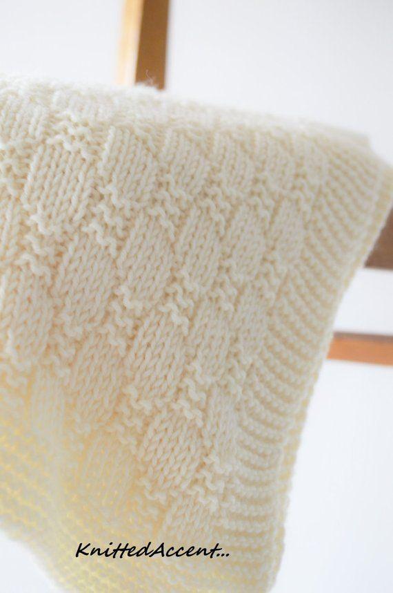 Easy Blanket PATTERN, Knit Baby Pattern, Knitting Pattern, Blanket ...