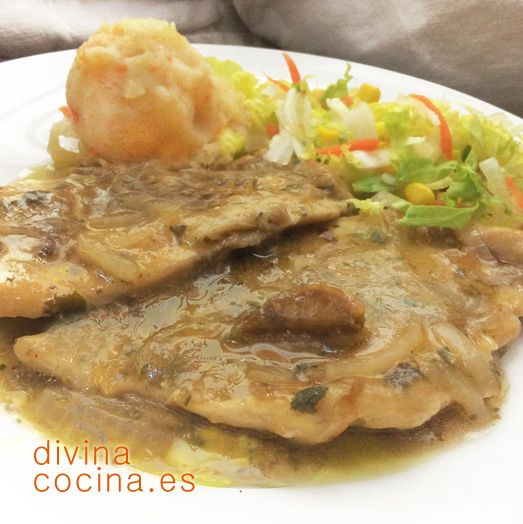 Con esta misma receta de pechugas de pollo en salsa puedes preparas filetes de cerdo, ternera... a tu gusto.