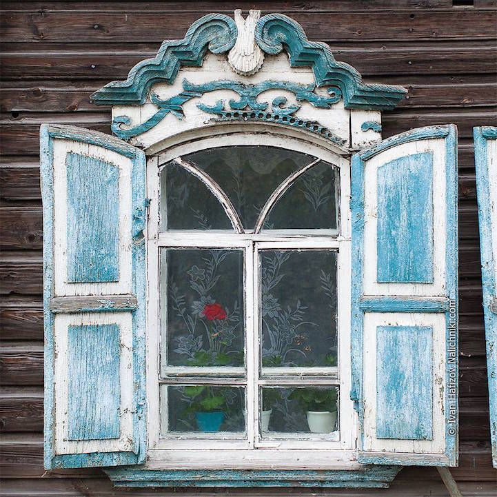 Russian photographer Ivan Hafizov is on a mission of historic preservation. For many centuries, Russia has prided itself on its intricate woodworking called nalichniki. The craft was used particularly to decorate window casings—the trim molding that originates at the windowsill and wraps up and around the glass—creating a dainty border. Although the exact reason for this tradition isn't clear, window decorating may have started in pagan times and were designed to protect a home's inhabitants…