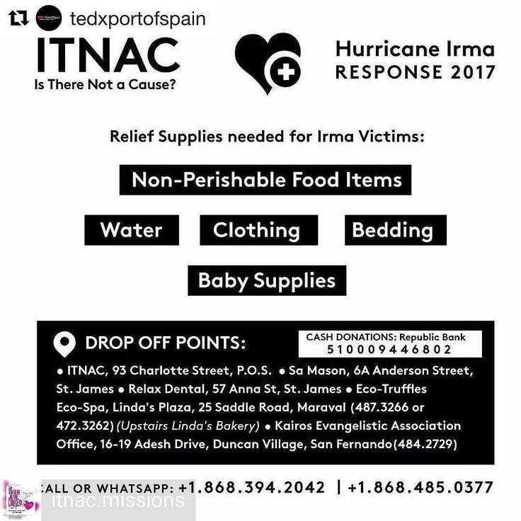 We urge to share this important message reposted from @tedxportofspain -  #IrmaHurricane2017 - #Repost @itnac.missions Gather what you can donate what you can. This is certainly a cause to get behind. -  #tedx #tedxcommunity
