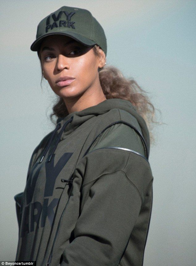 Fading out: The hitmaker teamed the hoodie with an Ivy Park bra top in this shot