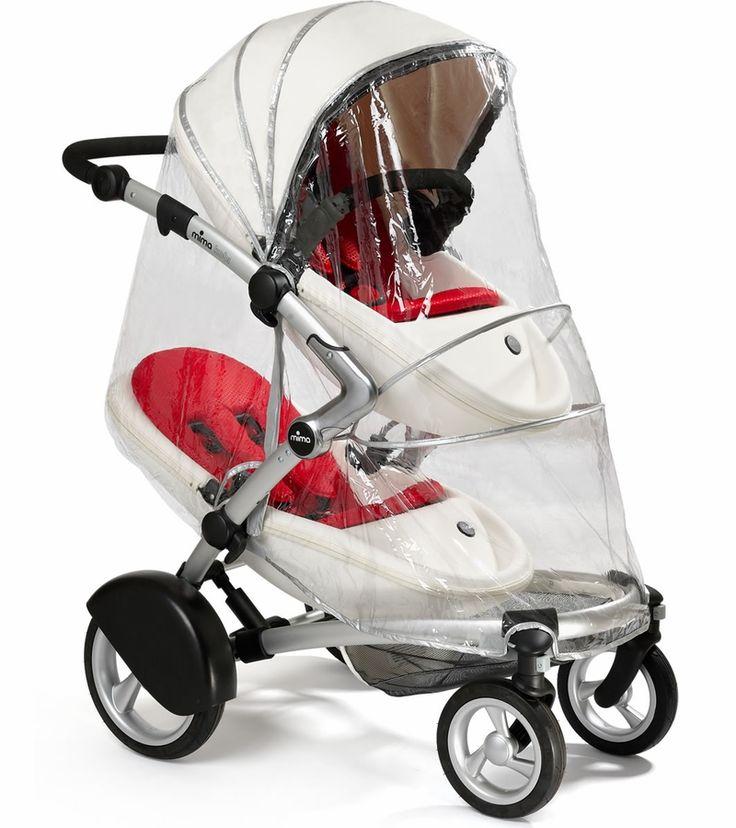 Mima Kobi Double Raincover Stroller, Kids wagon, Baby