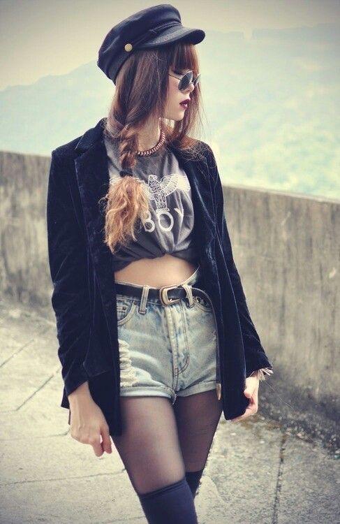 grunge fashion clothes pinterest mode femme femmes et mode. Black Bedroom Furniture Sets. Home Design Ideas