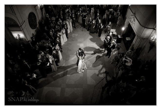 Ochre Court Wedding, Newport, First Dance, Bride and Groom,  © Snap Weddings