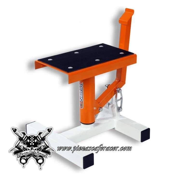 46€ - ENVÍO GRATIS - Caballete Elevador de Moto Marca Gnerik Mono Color Naranja