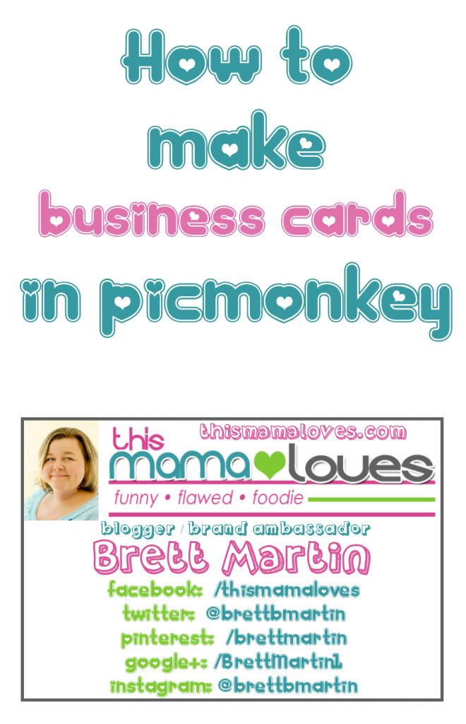 How to Make Business Cards in PicMonkey