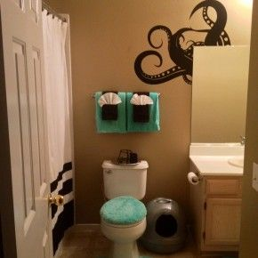 Octopus Bathroom + Fancy Towel Folding!
