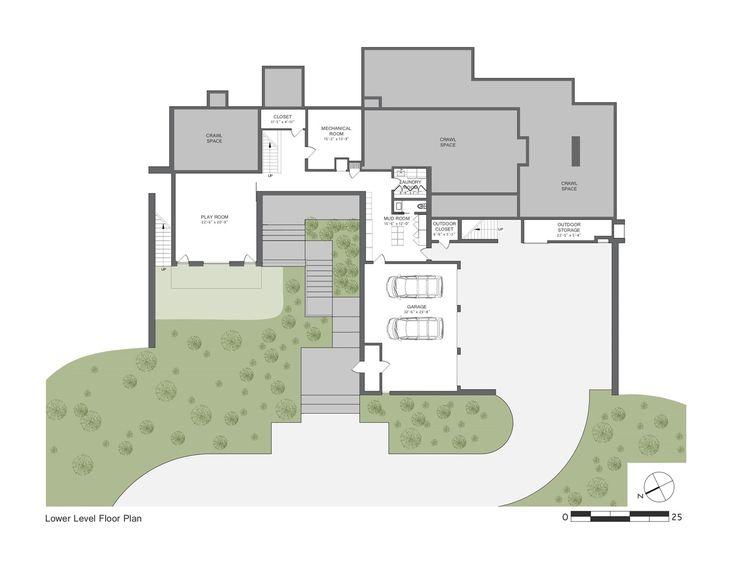 137 best Maison Bois   Contemporary wood house images on Pinterest - plan de maison sur terrain en pente
