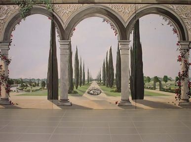 42 best images about trompe l 39 oeil views on pinterest for Deco trompe l oeil mural