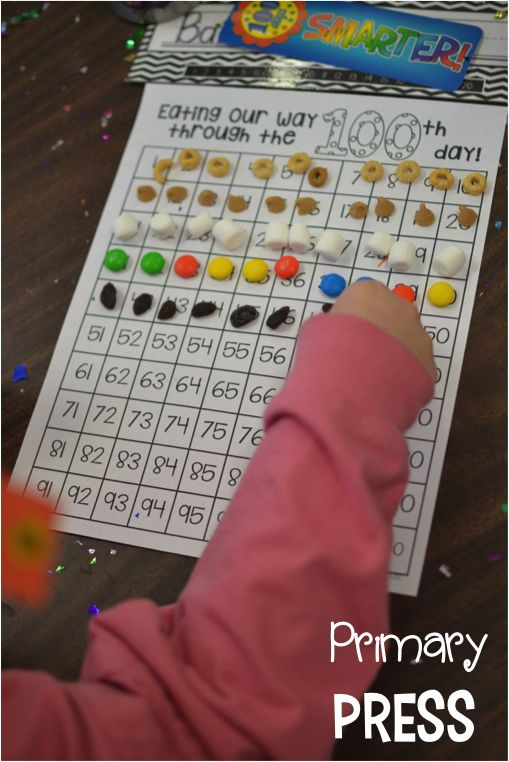 My students love making this 100th day trail mix! {Hundreds chart included as a freebie!}