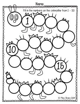 This simple worksheet was made for my students to continue to practice counting…