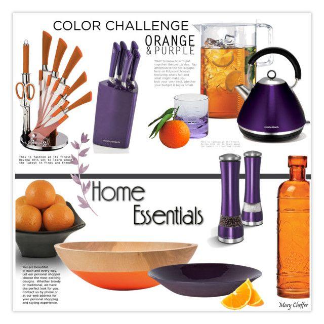 Color Challenge Orange And Purple Kitchen By Mcheffer