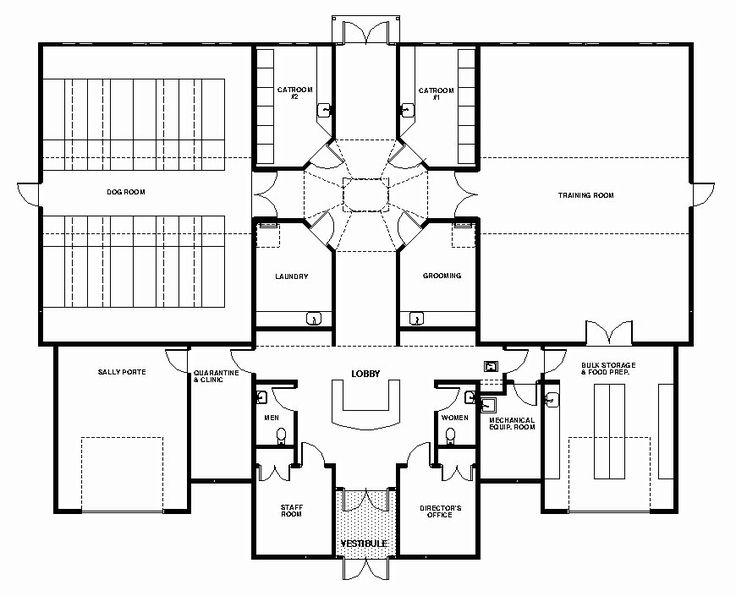 Like general layout of sm facility dog care facility for Small daycare floor plans