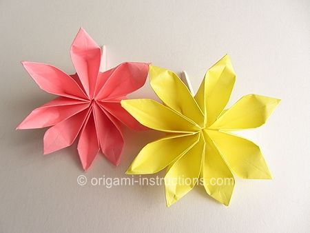 Origami 8-Petal Flower Folding Instructions