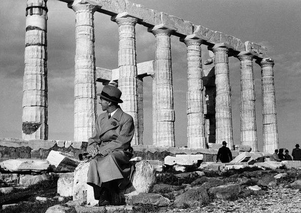 Nazi German Joseph Goebbels visiting the Acropolis at Athens - 1939