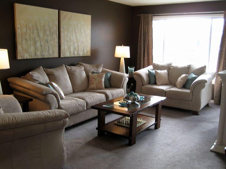 Die besten 25+ Beiges Sofa Dekoration Ideen auf Pinterest Beige - dekorationsideen wohnzimmer braun