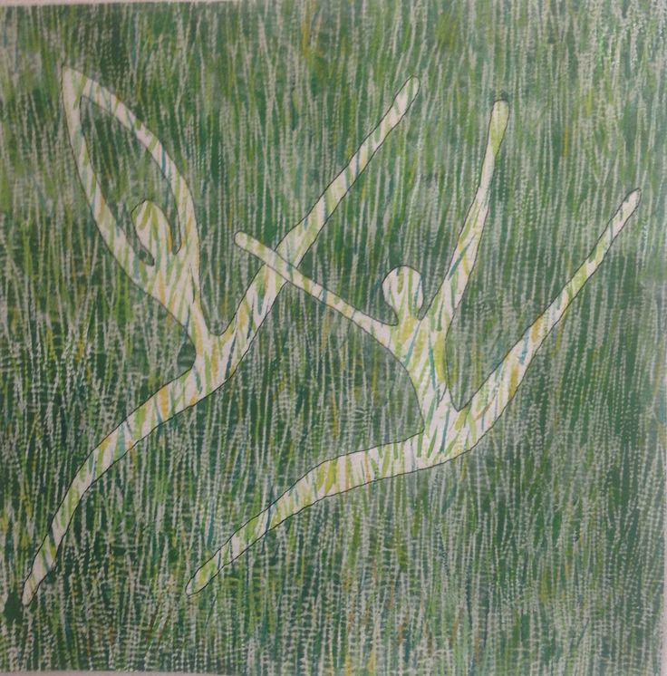 Grashüpfer/Dancing in the Gras, 50x50 cm