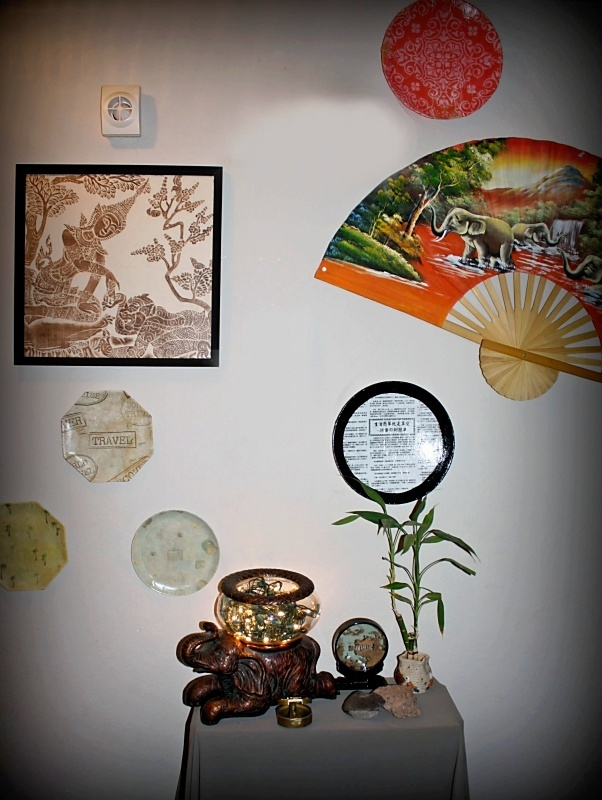 I finished the plate made out of Chinese Newspaper and placed it with my other Travel pieces.
