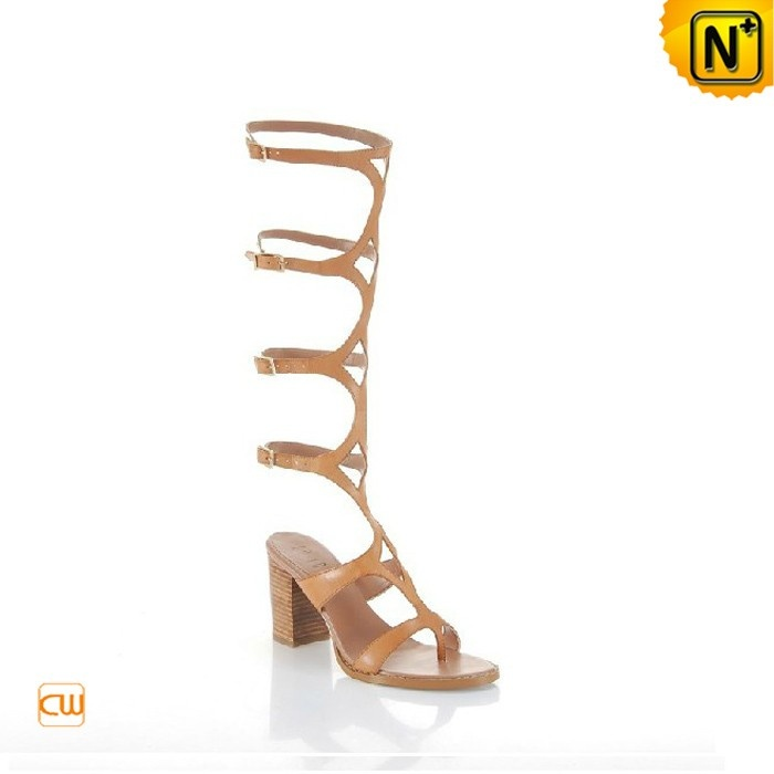 Women's Cool Shoes Women's Peep Toe High Straps Leather Sandals Shoes  CW273135 $428.89 - www.