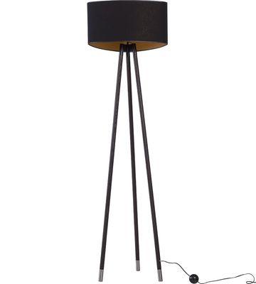 Lampa podłogowa z abażurem Luna Light II czarna (Czarny, Gironde) - Oświetlenie - Artykuły Dekoracyjne - Meble VOX