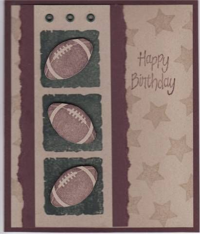 Football Birthday Card by cmk7471 - Cards and Paper Crafts at Splitcoaststampers